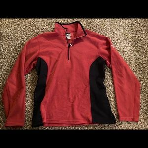 The North Face fleece 1/4 zip pullover top large